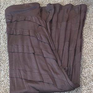 Dark brown maxi skirt